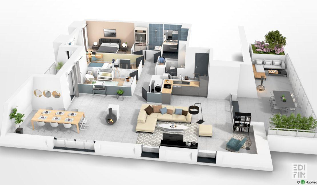 Appartement Neuf T4 Aix les Bains - EDIFIM
