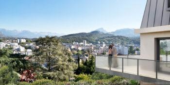 Chambéry depuis la Résidence CONFIDENTIEL   EDIFIM
